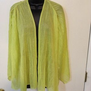 CHIC0'S LIME GREEN SHRUG SIZE 2